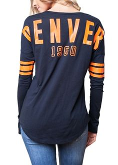 Size Medium Please! Popular for more reasons than one, this Denver Broncos football spirit jersey combines comfort with ultimate team spirit in a look that won't go out of style.