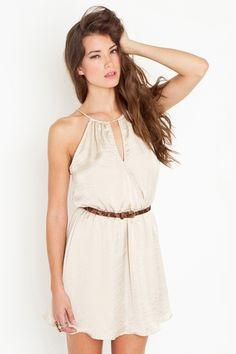 Split Halter Dress