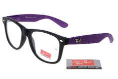Ran-Ban Rare Print 31 Black Purple Frame Transparent Lens RB03