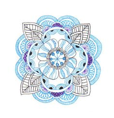 03.05.11 blue zendala | Sakura 01 Microns on 60 lb sketch pa… | Flickr