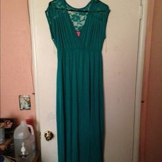 Teal dress Teal color. very long. brand-new. never used Dresses