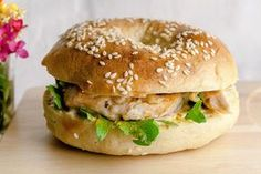 bagel poulet curry sauce moutarde