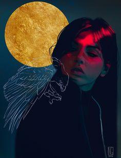 The Cosmos is God, — Maria Yasmeen Hawke patreon ☘ commissions ❣ ←. Aesthetic Drawing, Aesthetic Art, Ap Art, Dragon Age, Surreal Art, Portrait Art, Digital Illustration, Art Inspo, Art Girl