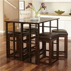 Madison Park 5 Pc Counter Set | Furniture and Mattress Outlet Table folders to skinny bar top...convertible sofa table?