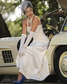 Vintage Bonnie Clyde Feel Bridal Headpieces Gowns Accessories Jewelry