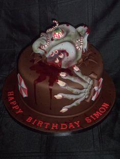 Zombie/Resident Evil theme cake :)