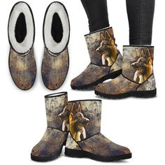 Dog Pattern, Animal Design, Wearable Art, Cowboy Boots, Custom Design, Ankle, Shoes, Products, Fashion