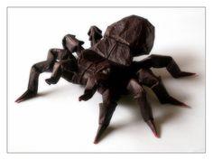 Origami Tarantula  A really impressive model designed by Robert Lang