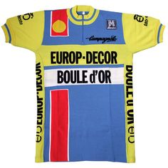 Europ Decor/Boule d`Or/Eddy Merckx 1984 Wool Jersey Cycling Jerseys, Cycling Art, Bike Brands, Cycling Outfit, Jersey Shirt, Shirts, Kit, School, Green