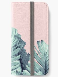 """Blush Banana Leaves Dream #5 #tropical #decor #art"" iPhone Wallets by anitabellajantz 