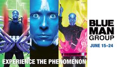 PINTEREST CONTEST ALERT! Repin this image for a chance to win tickets to opening night of BLUE MAN GROUP on June 15 at the Orpheum Theatre.     We will randomly draw a Pinner this Friday at 12noon.