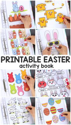 Printable Easter Quiet Book & Activity Book for Pre-K and K Crafts for Kids, Coloring pages, How to Draw TutorialsPrintable Easter Quiet Book – Activity Book for Pre-K and KCount with the bunnies and Bug Activities, Easter Activities For Kids, Toddler Learning Activities, Spring Activities, Fun Learning, Kindergarten Learning, Busy Book, Quiet Books, Infant Activities