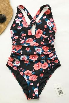 303d290d2f Cupshe Flashing Spray Print One-piece Swimsuit  swimsuit