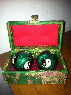 Baoding balls and case