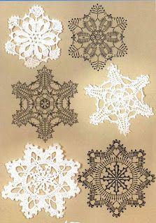 Ponteando: Crochê de natal 3 - flocos de neve com gráficos                                                                                                                                                      Mais