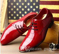 Boots For Men 2015 New Fashion Black Red Genuine Leather Men Dress Shoes, Male Business Oxford Shoes ,Top Quality Original Brand Men Wedding Shoes Nxx60 Wedge Shoes From Guange, $43.31| Dhgate.Com