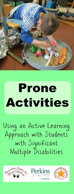 Great ideas of prone activities using an Active Learning approach with students with significant multiple disabilities. All age range. Gross Motor Activities, Autism Activities, Sensory Activities, Therapy Activities, Classroom Activities, Sorting Activities, Classroom Setup, Sensory Play, Preschool Ideas