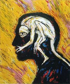 Self Portrait by Clive Barker... I absolutely can relate to this. I couldn't have drawn it like Clive brought it to life. LOVE THIS!!!
