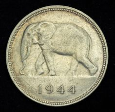 Belgian Congo coins 50 Francs Silver Coin of 1944 African Elephant Elephant Art, African Elephant, Saving Coins, Belgian Congo, French Coins, Silver Investing, Canadian Coins, Foreign Coins, Coin Art