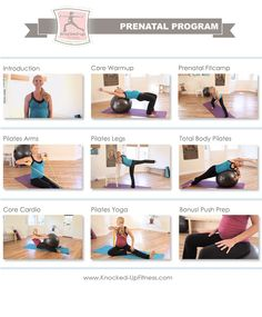 Stay Fit & Healthy During Pregnancy with Knocked-Up Fitness Prenatal Program, comes in a 2 DVD set or digital streaming online which also includes bonus printout pdf workouts and information!