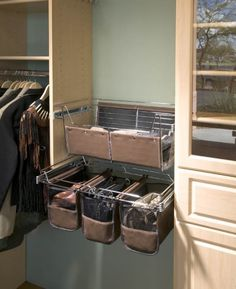 Basket Options With Liners For Your Closet   Inspiration California Closets  DFW