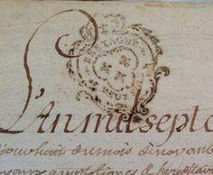 French calligraphy letter-1775  xo--FleaingFrance