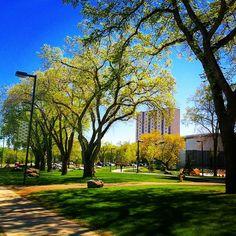 University of Alberta campus in Edmonton, Alberta, Canada - outside the CCIS building.