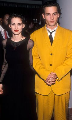 #JohnnyDepp to Receive Fashion Icon Award, See His Best Looks: In 1990,  Depp wore a mustard yellow suit to the premiere of his film, Cry-Baby. http://news.instyle.com/photo-gallery/?postgallery=114492#