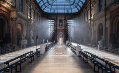 Lanvin show space at Paris Fashion Week A/W 2014: menswear collections