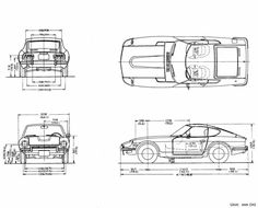 Image result for dimensions of a datsun 240z