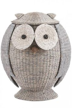 Decor/accessories - Our Owl Hamper turns even loads of dirty laundry into a delightful display in your room. Each wicker hamper is skillfully hand woven of water hyacinth stems . Wicker Hamper, Wicker Shelf, Wicker Sofa, Wicker Furniture, Wicker Trunk, Wicker Headboard, Wicker Mirror, Wicker Table, Nursery Furniture
