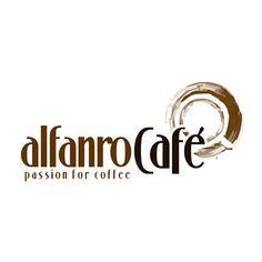 Design logo comercializant expresoare cafea Alfanro Cafe, realizat de logo1.ro Web Design Logo, Logo Restaurant, Corporate Identity, Branding, Tea, Coffee, Logos, Kaffee, Brand Management