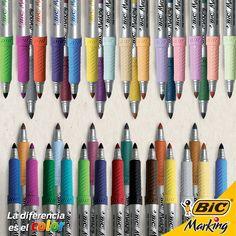 Abréle el telón a tu imaginación con los 41 colores que tus BIC Marking te ofrecen.