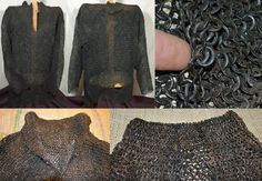 European riveted mail hauberk, 15th to 16th century, probably German, all wedge riveted mail with a thick dense collar made with smaller links that transitions into larger links on the body. This is the only know example of a European hauberk that was used in Samurai era Japan, it is black lacquered in the Japanese style. (nanban kusari katabira / foreign chain armor jacket)