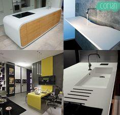 Mesa para cozinha em Corian