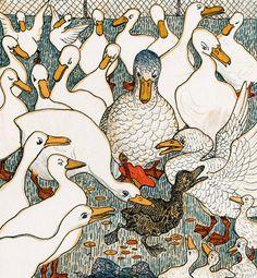 ¤ Theo Van Hoytema deviendra un des dessinateurs de la faune et de la flore les plus reconnus des Pays-Bas; ici Le Vilain Petit Canard, 1893
