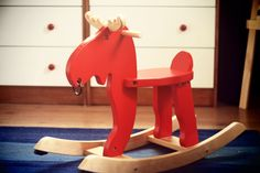 To go with red & brown nursery Moose Nursery, Brown Nursery, Wooden Horse, Grits, Rockers, Wood Working, Toys, Projects, Clip Art