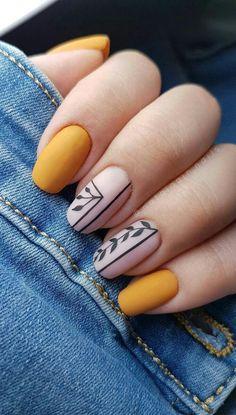 Effect nailart yellow nail inspo unha amarela inspo Nails How to use nail polish? Nail polish in your friend's nails lo Cute Acrylic Nails, Acrylic Nail Designs, Cute Nails, My Nails, Acrylic Art, Acrylic Nails For Spring, Matte Nail Art, Short Square Nails, Short Nails