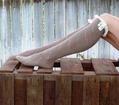 Set Of Three Womens Boot Socks Lace Boot cuffs by uptowngirlco, $36.00