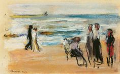 Image: Max Liebermann - at the beach
