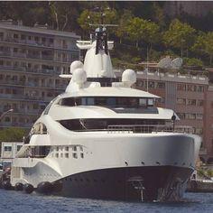 """P A L L A D I U M"" 312ft (95m) by Blohm + Voss in Monaco."