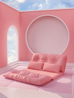 Hidden Places - Illustrations using simple shapes ,soft lighting and pastel colors with a focus on surreal, minimal design. Pastel Room, Pink Room, Pastel Pink, Pastel Colors, Pink Blue, Salle Pastelle, Murs Roses, Backgrounds Girly, Abstract Backgrounds