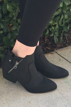 Blue suede shoes. Turn Back Time Booties - Black