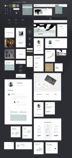 A free Photoshop UI Kit with over 55 graphics for personal and commercial use. Tomasz Mazurczak is an Opole, Poland based Front-End Developer, UI & Web App Design Inspiration, User Interface Design, Ui Ux Design, Flat Design, Layout Design, Ui Kit, Pag Web, Android App Design, Branding