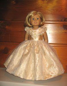 Gold Princess dress with satin bodice, lace embellishments