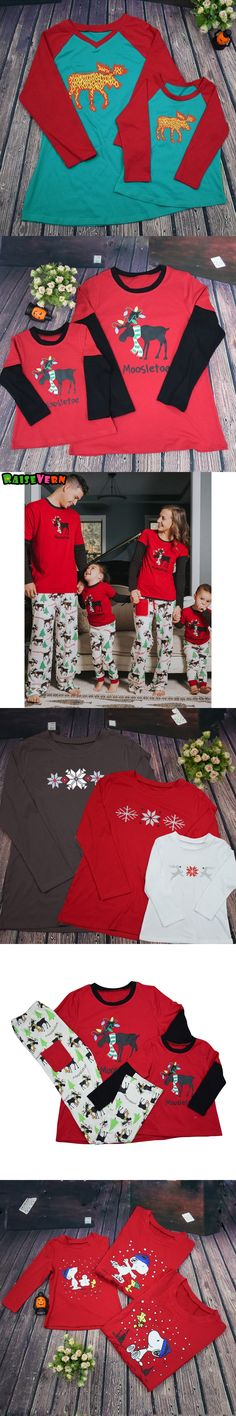 New Arrivals Christmas Suits Father Mother Kids Family Matching Outfits Long Sleeve Printed Sleepwear Pajamas Festival Clothes