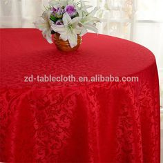 Home decoration Luxury Ivory Polyester damask 90 round tablecloths