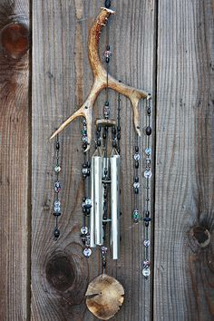 28 Deer Antler Suncatcher Windchime with Ivy by RockingchairChimes, $108.75