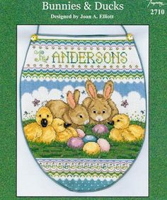 Bunnies & Ducks - (Cross Stitch) Find your next Easter Cross Stitch design at Cobweb Corner and save 20% off your first order with coupon WELCOMECC #crossstitch #easter