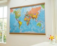 16 best etsy usa images on pinterest world maps wall maps and political map of the world front sheet lamination extra large by maps international gumiabroncs Image collections